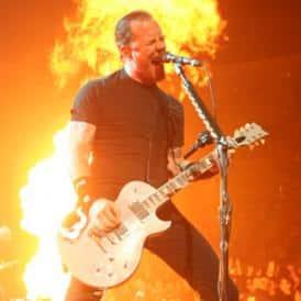 James Hetfield of Metallica signing