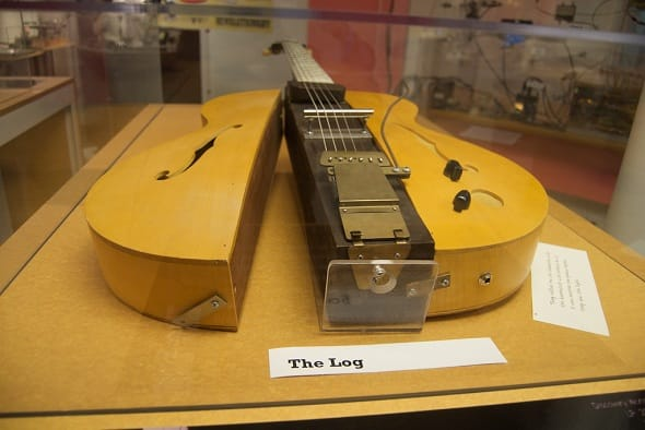 Les paul The Log Guitar