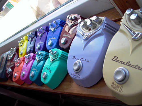 Danelectro Dan-Echo, Cool Cat, Daddy-O and Fab-Tone pedals