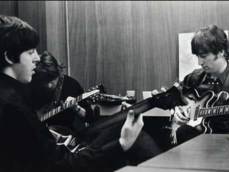 Beatles tuning guitars