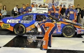 Kyle Busch Smashes Guitar Trophy After NASCAR Win