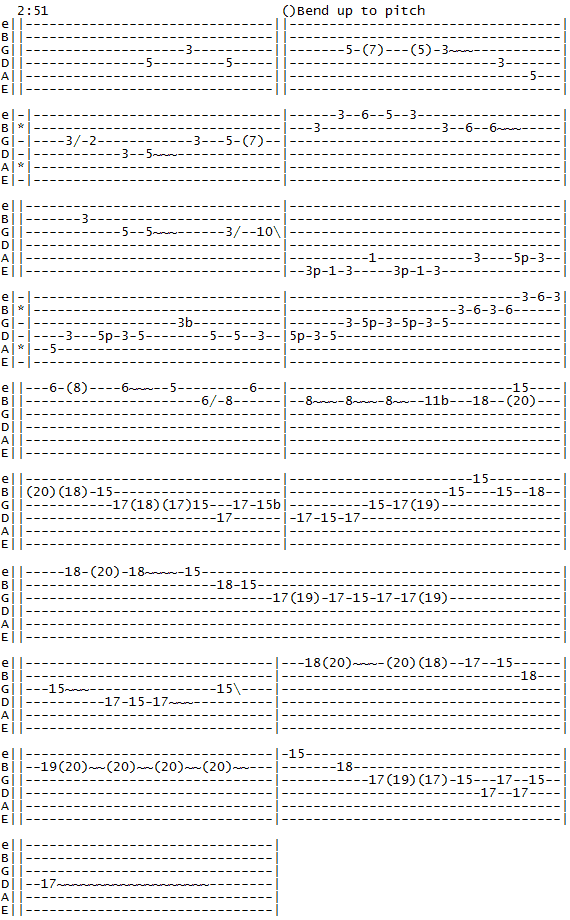 whitesnake-fool-for-your-loving-intro-guitar-solo guitar tab