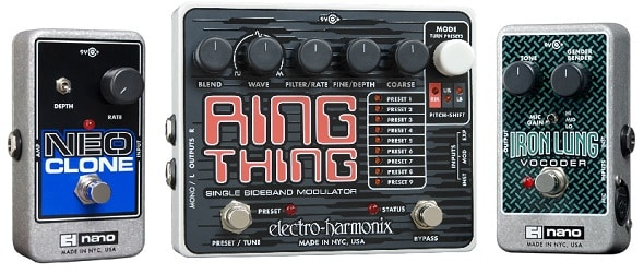 EHX Neo Clone, Iron Lung, and Ring Thing Guitar Pedal Review