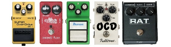 Top Five Overdrive Guitar Pedals